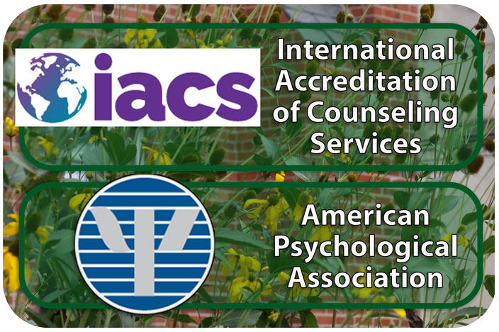 Accredited by International Accreditation of Counseling Services (IACS) and the American Psychological Association (APA).